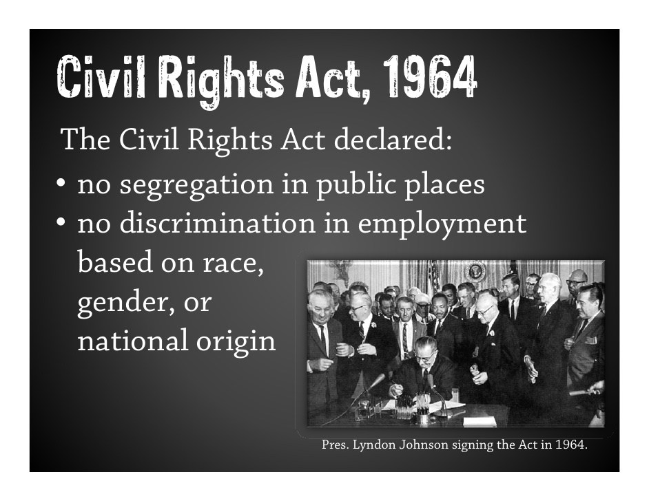 essays on civil rights act of 1964 Historical essays member profiles civil rights act of 1964: civil rights act of 1968 (fair housing act) pl 90–284.